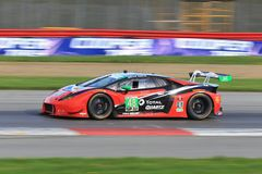 Competência de Lamborghini Huracan GT3 fotografia de stock royalty free
