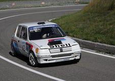 Competência do gti de Peugeot 205 fotografia de stock royalty free