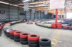 Competência do kart: Precipitação da adrenalina Foto de Stock Royalty Free
