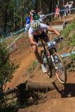 Competência do país da rampa X do ciclista Fotografia de Stock Royalty Free