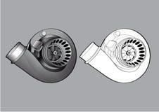 Competência do turbocompressor dos acessórios do equipamento do carro ilustração stock