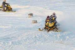 Competência dos carros de neve do esporte Imagens de Stock Royalty Free