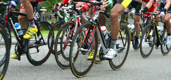 Competência dos ciclistas Foto de Stock Royalty Free