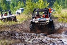 Competência fora de estrada em ATV Foto de Stock Royalty Free