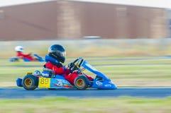 Competência piloto no campeonato nacional de Karting Fotos de Stock Royalty Free