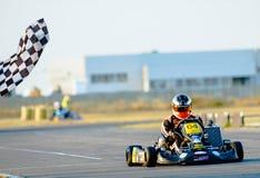 Competência piloto no campeonato nacional de Karting Foto de Stock