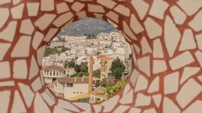 Mosaic in viewpoint stock images