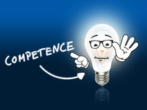 Competence  Bulb Lamp Energy Light blue Stock Photography