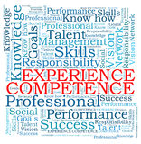 Competence experience word cloud Stock Photos