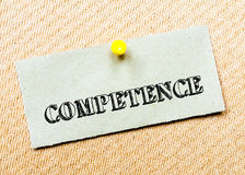 Competence Message. Concept Image Stock Photography
