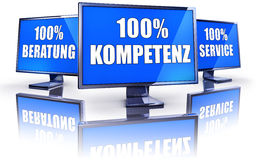 Competence,service,consulting. German 3D concept Royalty Free Stock Images