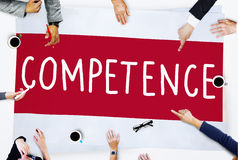 Competence Skill Ability Proficiency Accomplishment Concept Royalty Free Stock Photos
