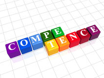 Competence in color cubes Stock Photos