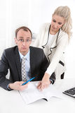 Competence - woman as a managing director. Royalty Free Stock Photo