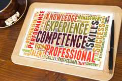 Competence word cloud Royalty Free Stock Image