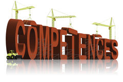 Competences building job skills competent Stock Image
