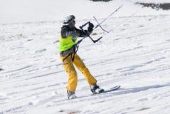 Competencia Altosangro 2016 del snowkite del mundo Imágenes de archivo libres de regalías