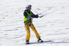 Competencia Altosangro 2016 del snowkite del mundo Foto de archivo libre de regalías