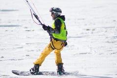 Competencia Altosangro 2016 del snowkite del mundo Foto de archivo