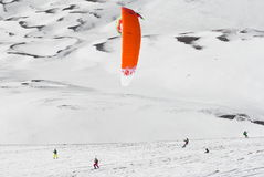 Competencia Altosangro 2016 del snowkite del mundo Imagenes de archivo