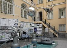 Competencia arquitectónica en el museo de la comunicación Fotografía de archivo libre de regalías