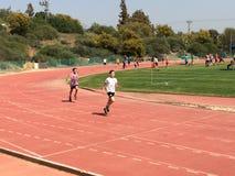 Competencia atlética Foto de archivo