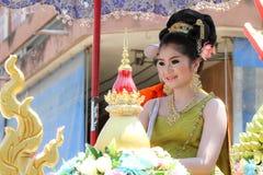 Competencia de belleza de Songkran Fotos de archivo libres de regalías