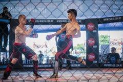 Competencia de boxeo de retroceso Imagen de archivo libre de regalías