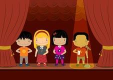 Competencia de discurso de los niños Imagen de archivo