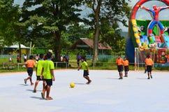 Competencia de Futsal Imagen de archivo libre de regalías