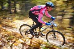 Competencia de la bici de montaña Imagen de archivo libre de regalías