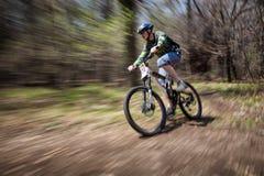 Competencia de la bici de montaña Imagen de archivo