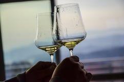 Competencia de la copa de vino imagen de archivo
