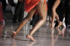 Competencia de la danza Imagen de archivo libre de regalías