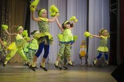 Competencia de la danza de DancePower, Minsk, Bielorrusia Imagen de archivo libre de regalías