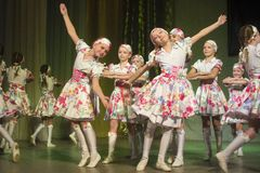 Competencia de la danza de DancePower, Minsk, Bielorrusia Foto de archivo libre de regalías