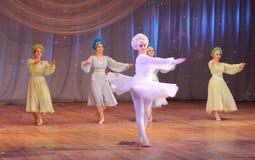 Competencia de la danza de los niños Fotografía de archivo