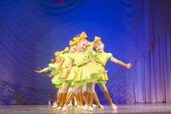Competencia de la danza de MegaDance, Minsk, Bielorrusia Foto de archivo libre de regalías