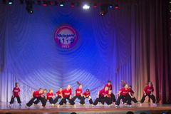 Competencia de la danza de MegaDance, Minsk, Bielorrusia Fotografía de archivo