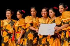 Competencia de la danza de Tinikling - filipino de Busán Fotografía de archivo libre de regalías