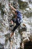 Competencia de la escalada Fotografía de archivo