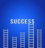 Competencia de la escalera al éxito Foto de archivo