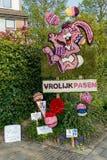 Competencia de la flor del mosaico en Lisse, los Países Bajos Fotografía de archivo