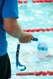 Competencia de la natación Fotos de archivo libres de regalías