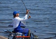 Competencia de la pesca Imágenes de archivo libres de regalías