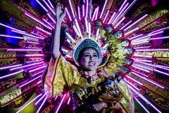 Competencia 2017 de la reina del festival de Sinulog Foto de archivo libre de regalías