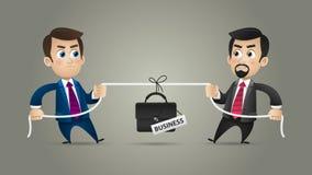 Competencia de los hombres de negocios del concepto en negocio Imagen de archivo