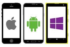 Competencia de los smartphones Fotos de archivo