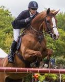 Competencia de salto del caballo Imágenes de archivo libres de regalías