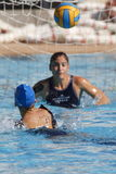 Competencia de Waterpolo Equipo del NC Mataro Imagen de archivo libre de regalías